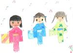 «Праздник Тонабата». Этот рисунок десятилетней японской школьницы из города Хакодатэ сегодня хранится у шестилетней кызыльчанки Аниты Канзай, самой юной участницы международного обмена рисунками.