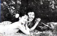 Надя с мамой - 1961 год.