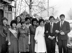 Свадьба в Бай-Хааке. Невеста – Ольга Шнипова, жених – Петр Морозов. 27 ноября 1982 года.